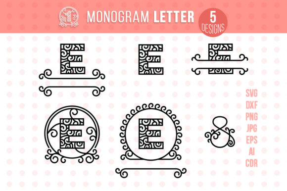Monogram Letter E Graphic Crafts By danieladoychinovashop - Image 1
