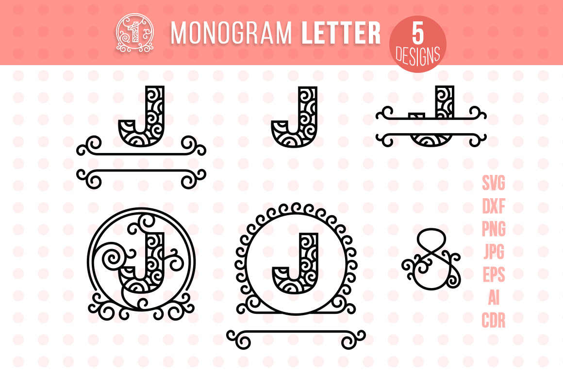 Download Free Monogram Letter J Graphic By Danieladoychinovashop Creative for Cricut Explore, Silhouette and other cutting machines.