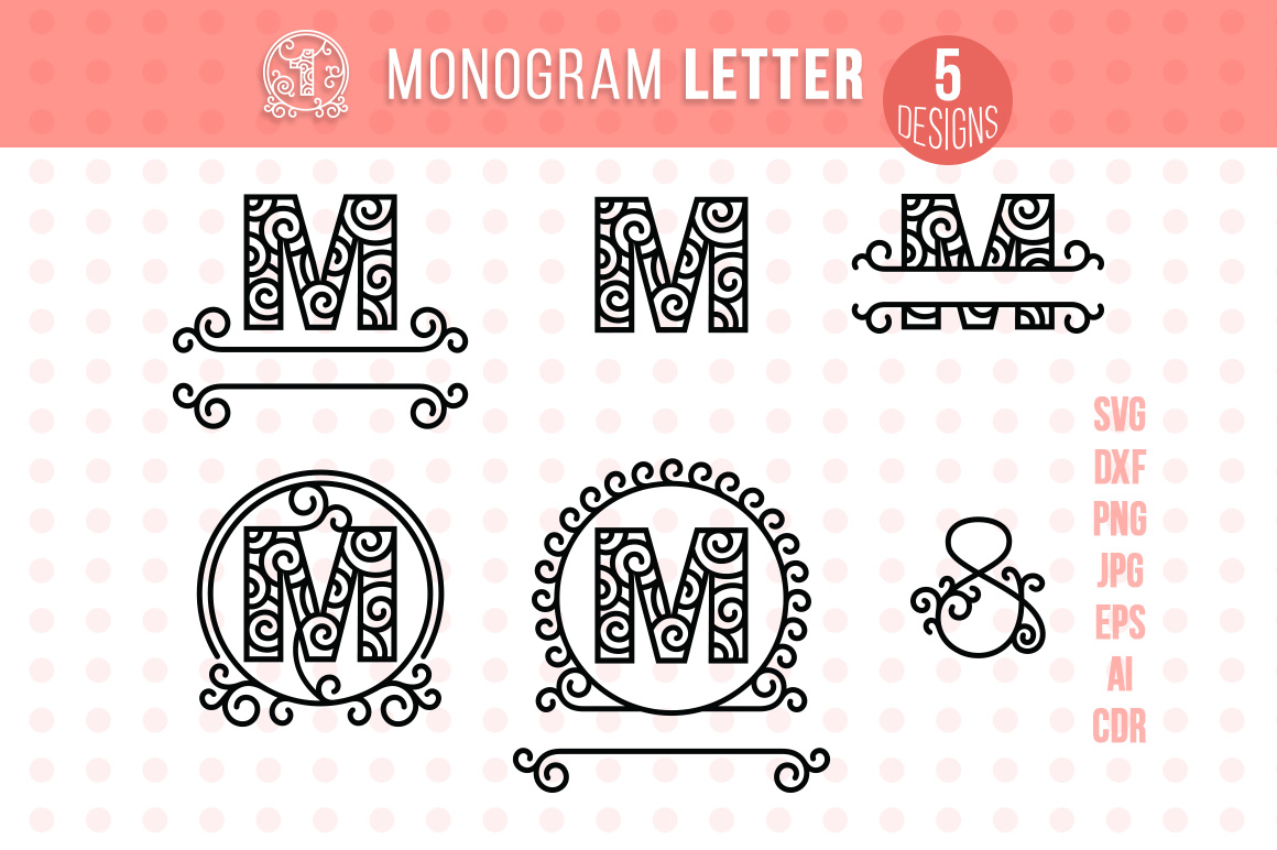 Download Free Monogram Letter M Graphic By Danieladoychinovashop Creative for Cricut Explore, Silhouette and other cutting machines.