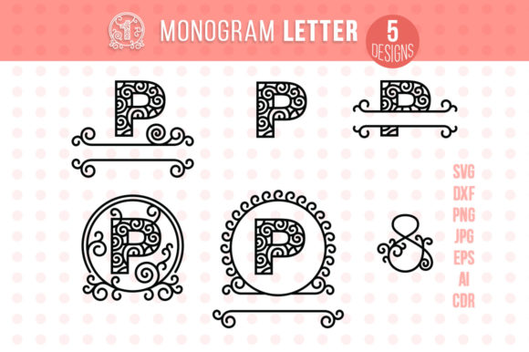 Monogram Letter P Graphic Crafts By danieladoychinovashop - Image 1