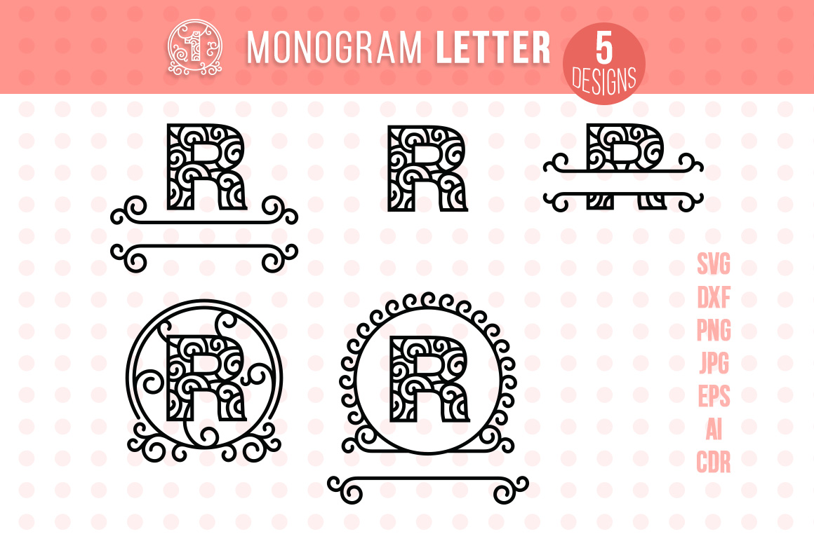 Download Free Monogram Letter R Graphic By Danieladoychinovashop Creative Fabrica for Cricut Explore, Silhouette and other cutting machines.
