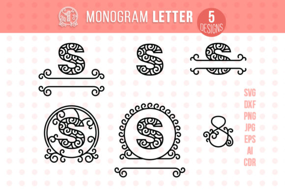 Monogram Letter S Graphic Crafts By danieladoychinovashop