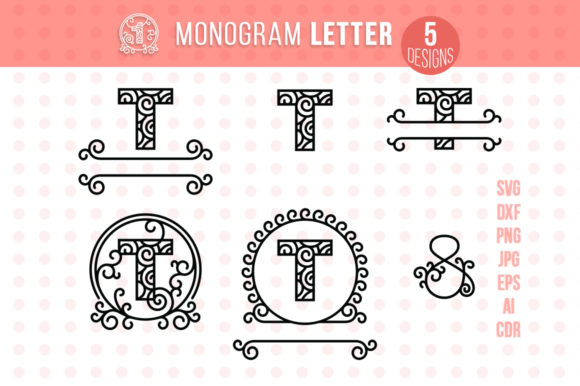 Monogram Letter T Graphic Crafts By danieladoychinovashop - Image 1