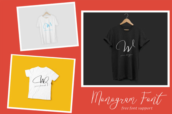 Download Free Monogram W Monofont Caps W Font By Aminmario Creative Fabrica for Cricut Explore, Silhouette and other cutting machines.