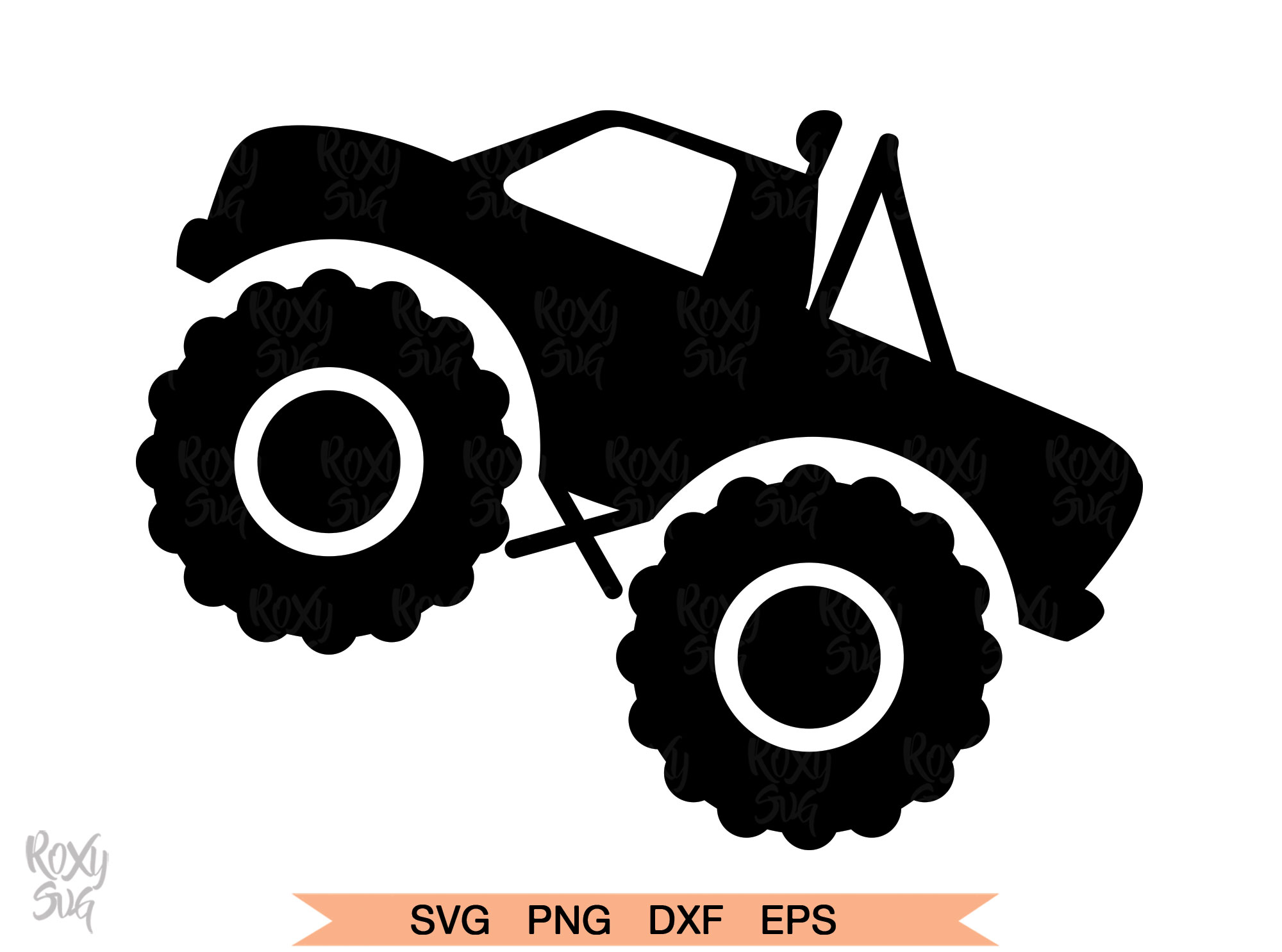 Download Free Monster Truck Silhouette Graphic By Roxysvg26 Creative Fabrica for Cricut Explore, Silhouette and other cutting machines.