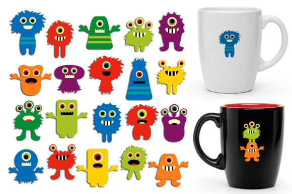 Print on Demand: Color Monsters Graphic Illustrations By Revidevi