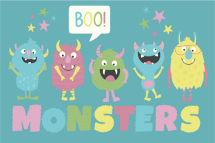 Monsters Clipart Graphic By poppymoondesign