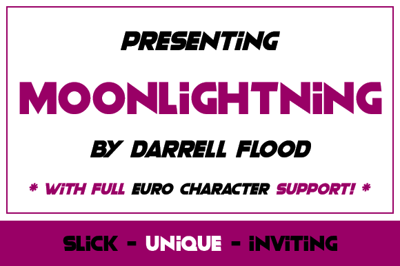 Print on Demand: Moonlightning Sans Serif Font By Dadiomouse - Image 2