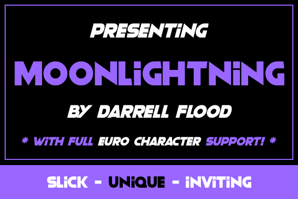 Print on Demand: Moonlightning Sans Serif Font By Dadiomouse