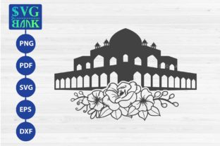 Mosque with Flower Graphic By svgBank