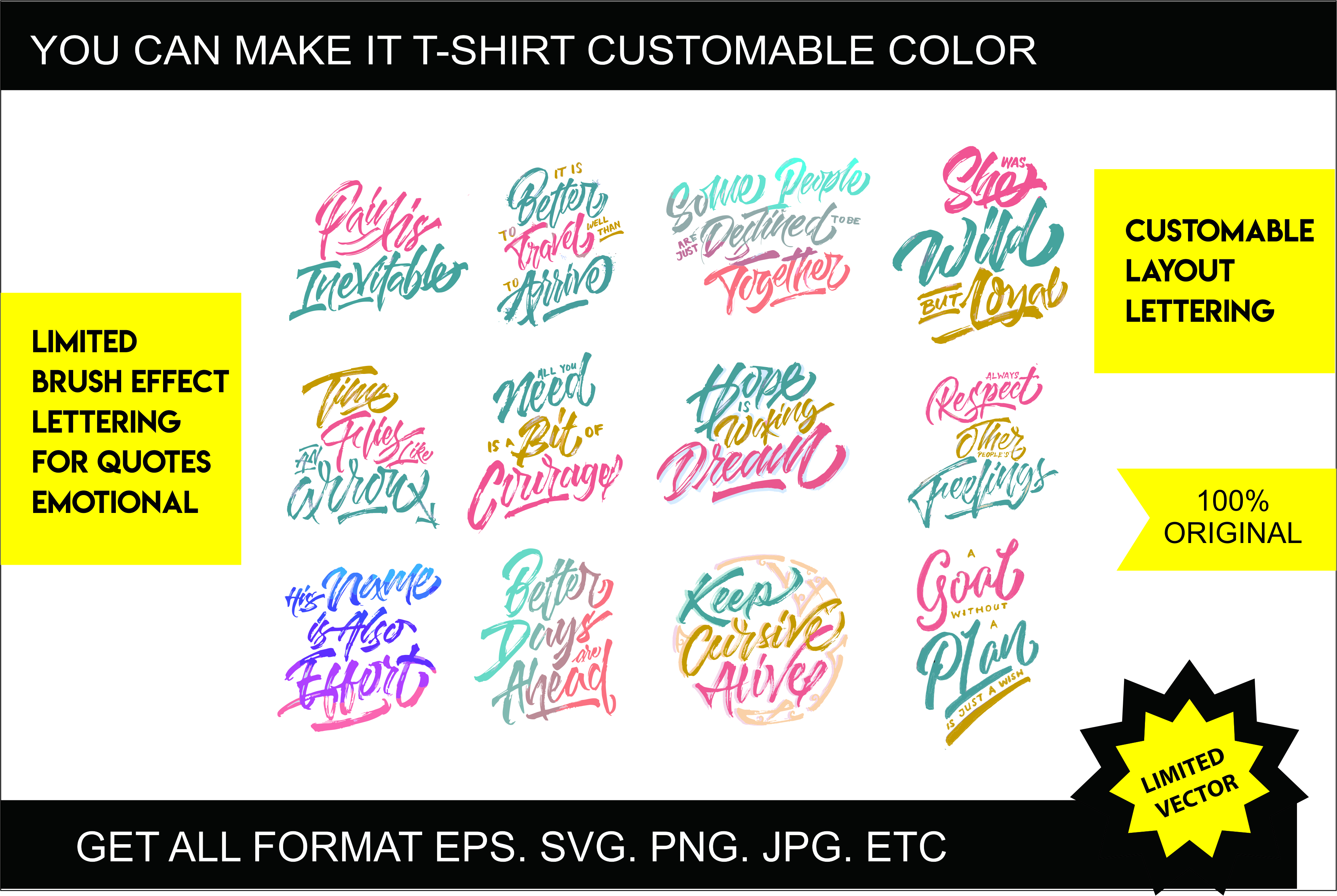 Download Free Motivational Quotes Brush Lettering Graphic By Wasisme Studio for Cricut Explore, Silhouette and other cutting machines.