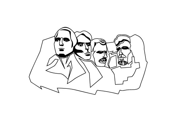 Mount Rushmore Travel Craft Cut File By Creative Fabrica Crafts - Image 2