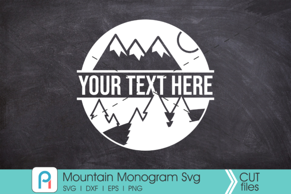 Mountain Monogram Svg, Mountain Svg Graphic Crafts By Pinoyartkreatib
