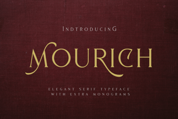 Print on Demand: Mourich Serif Font By Arterfak Project