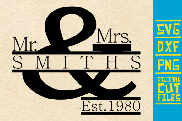 Download Free Mr And Mrs Married Wedding Graphic By Svgyeahyouknowme SVG Cut Files