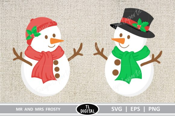 Mr and Mrs Snowman Graphic Crafts By TL Digital