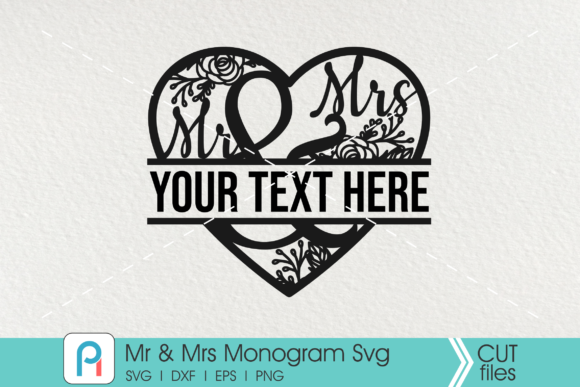 Mr and Mrs Svg, Mr and Mrs Monogram Svg Graphic Crafts By Pinoyartkreatib