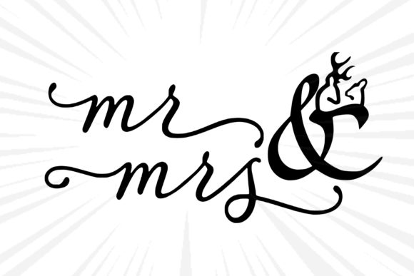 Mr and Mrs Graphic Graphic Templates By johanruartist