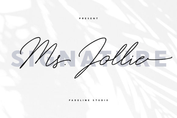 Print on Demand: Ms. Jollie Script & Handwritten Font By FadeLine - Image 1