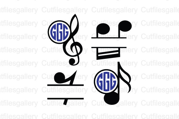 Music Note Monogram Svg Graphic By Cutfilesgallery Creative