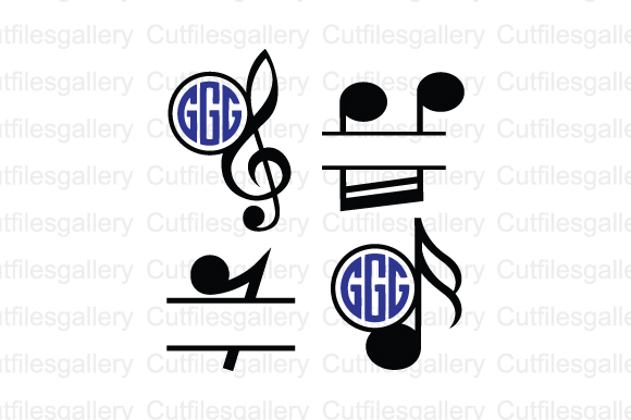 Download Free Music Note Monogram Svg Graphic By Cutfilesgallery Creative for Cricut Explore, Silhouette and other cutting machines.