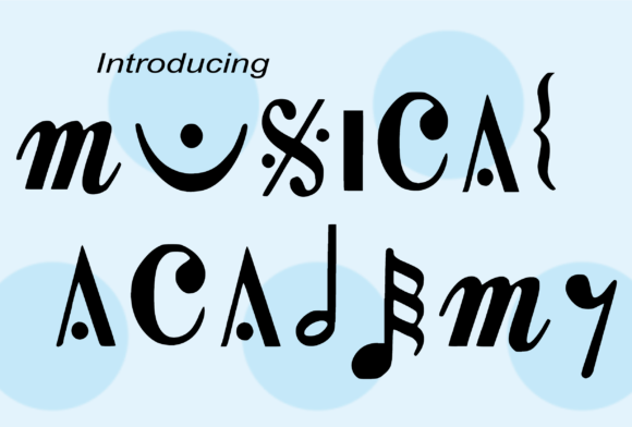 Musical Academy Decorative Font By girl_ofgod
