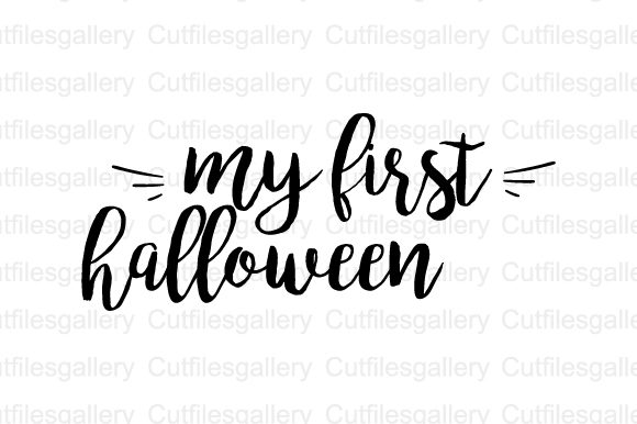 Download Free My First Halloween Graphic By Cutfilesgallery Creative Fabrica for Cricut Explore, Silhouette and other cutting machines.
