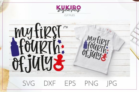 Download Free My First 4th Of July Svg Cut File Graphic By Kukiro Creative SVG Cut Files