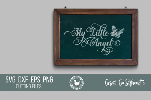 Download Free My Little Angel Memorial Quote Graphic By Boertiek Creative for Cricut Explore, Silhouette and other cutting machines.