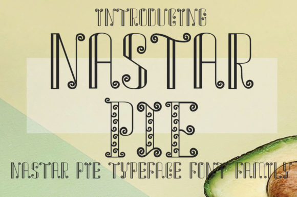 Print on Demand: Nastar Pie Display Font By jehansyah251