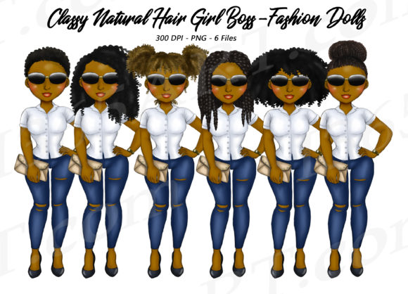 Natural Hair Girl Boss Fashion Graphic Illustrations By Deanna McRae