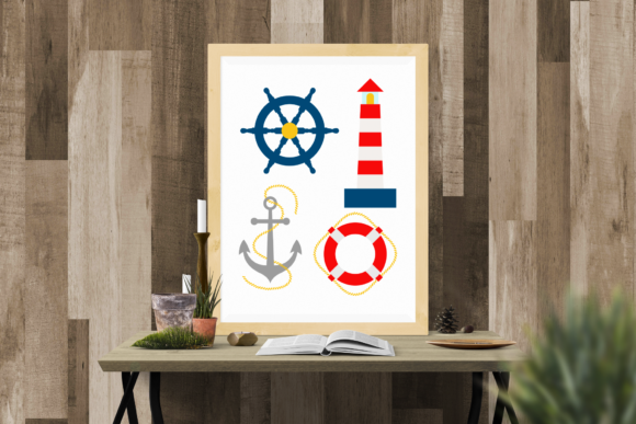 Nautical Lighthouse Set Graphic By Designedbygeeks Creative
