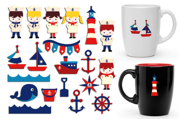 Print on Demand: Nautical Graphic Illustrations By Revidevi