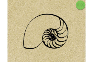 Print on Demand: Nautilus Seashell Cut Files Graphic Crafts By CrafterOks