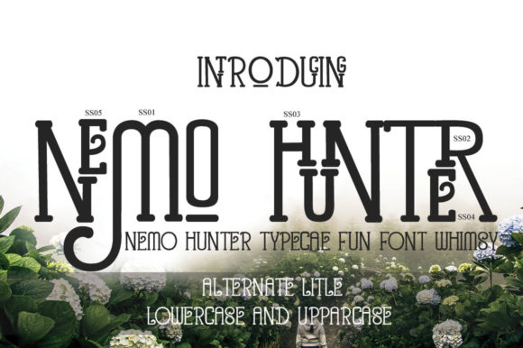 Print on Demand: Nemo Hunter Display Font By jehansyah251