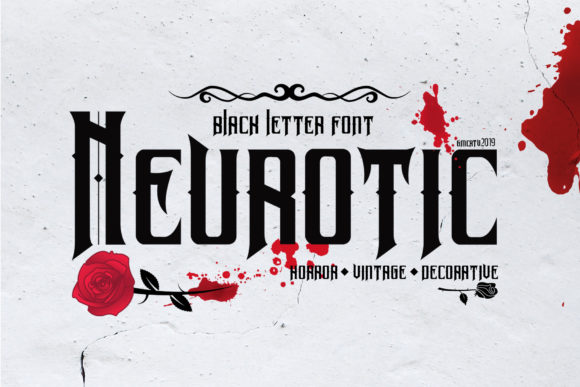 Print on Demand: Neurotic Blackletter Font By LetterStock X Gumacreative