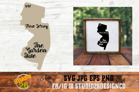 Download Free New Jersey State Nickname Graphic By Studio 26 Design Co for Cricut Explore, Silhouette and other cutting machines.