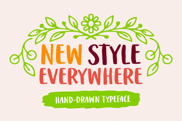 Print on Demand: New Style Everywhere Script & Handwritten Font By Situjuh