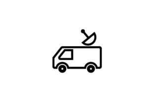 Download Free News Media Car Icon Vector Grafico Por Hoeda80 Creative for Cricut Explore, Silhouette and other cutting machines.