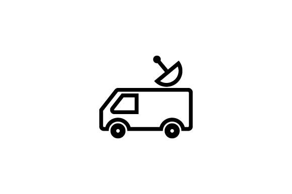 Download Free News Media Car Icon Vector Graphic By Hoeda80 Creative Fabrica for Cricut Explore, Silhouette and other cutting machines.