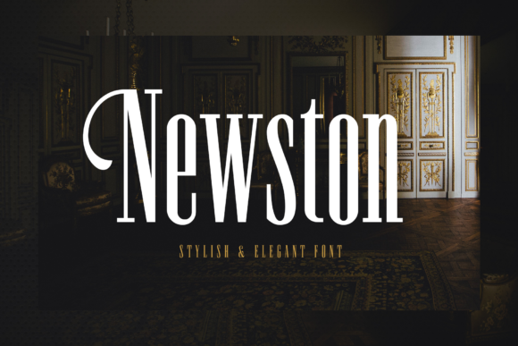 Print on Demand: Newston Serif Font By Arterfak Project