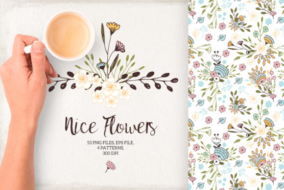 Nice Flowers Graphic By webvilla Image 1