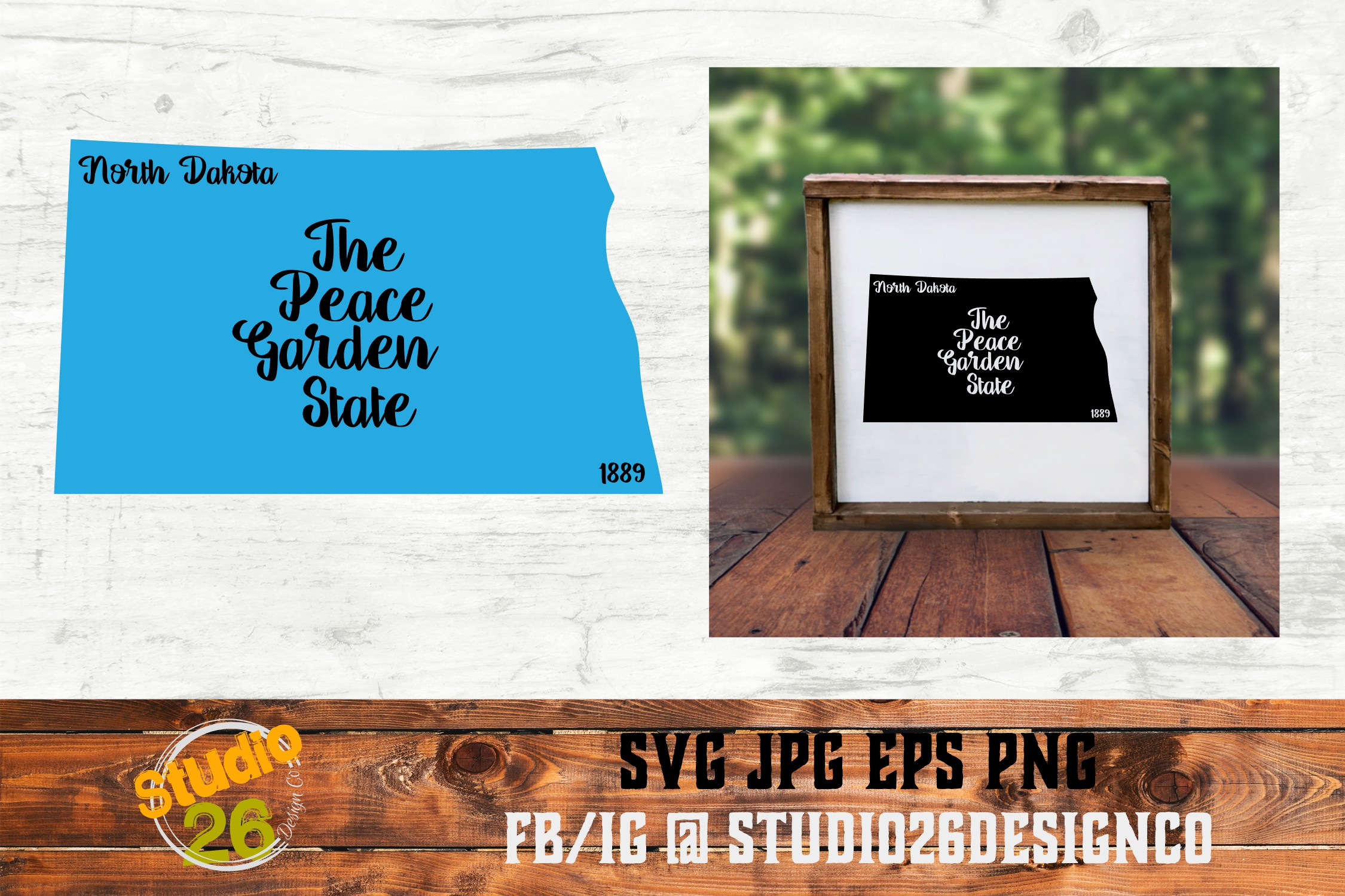 Download Free North Dakota State Nickname Graphic By Studio 26 Design Co for Cricut Explore, Silhouette and other cutting machines.