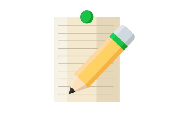 Notes and Pencil Icon Graphic By Home Sweet