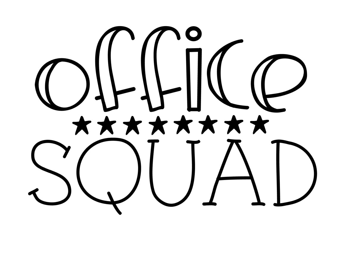 Download Free Office Squad Graphic By Thesmallhouseshop Creative Fabrica for Cricut Explore, Silhouette and other cutting machines.