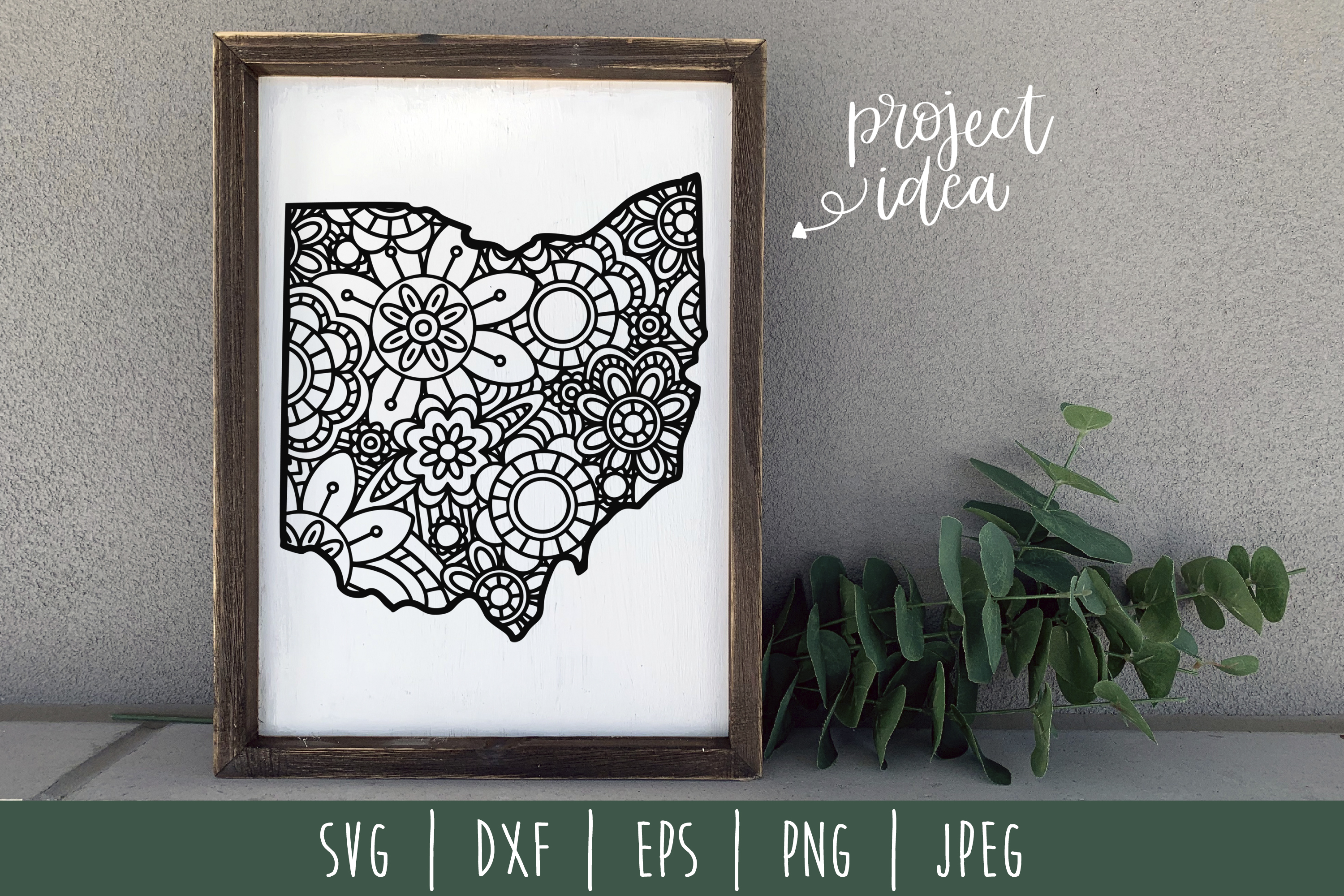 Download Free Ohio State Mandala Zentangle Graphic By Savoringsurprises for Cricut Explore, Silhouette and other cutting machines.