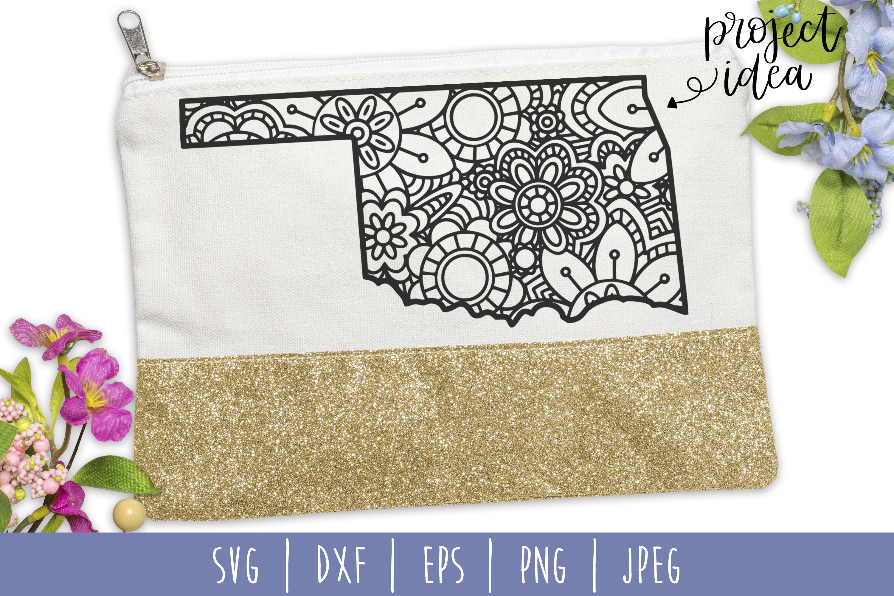 Download Free Oklahoma State Mandala Zentangle Graphic By Savoringsurprises for Cricut Explore, Silhouette and other cutting machines.