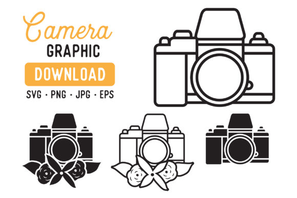 Print on Demand: Old Film Camera Graphic Pack Graphic Illustrations By The Gradient Fox