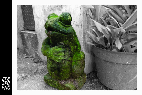 Print on Demand: Old Frog Sculpture Photography Graphic Architecture By Arief Sapta Adjie II