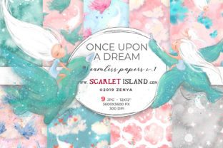Once Upon a Dream Papers 2 Graphic Patterns By ramandu